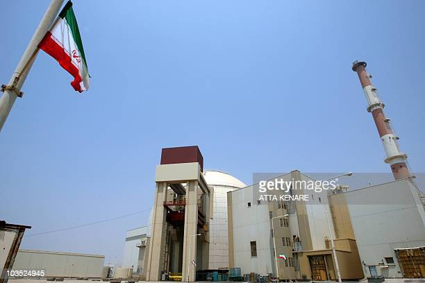Picture shows the reactor building at the Russian-built Bushehr nuclear power plant in southern Iran on August 21, 2010 during a ceremony initiating...
