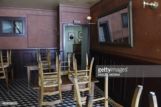 A picture shows the restaurant of the Auberge Ravoux also known as the House of Van Gogh in AuverssurOise in the northwestern suburbs of Paris on...