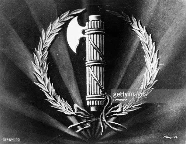 Picture shows the Roman faces as adopted symbol by Italian Fascists Undated illustration