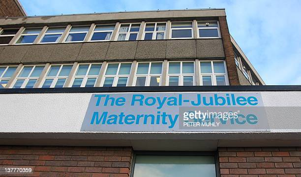 A picture shows the Royal Jubilee Maternity Hospital in west Belfast Northern Ireland on January 26 2012 Three babies have died after becoming...