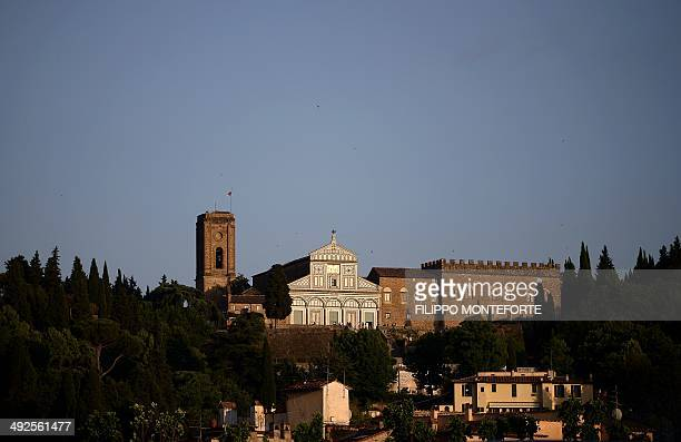 Picture shows the San Miniato cathedral on May 20, 2014 in Florence. AFP PHOTO / FILIPPO MONTEFORTE