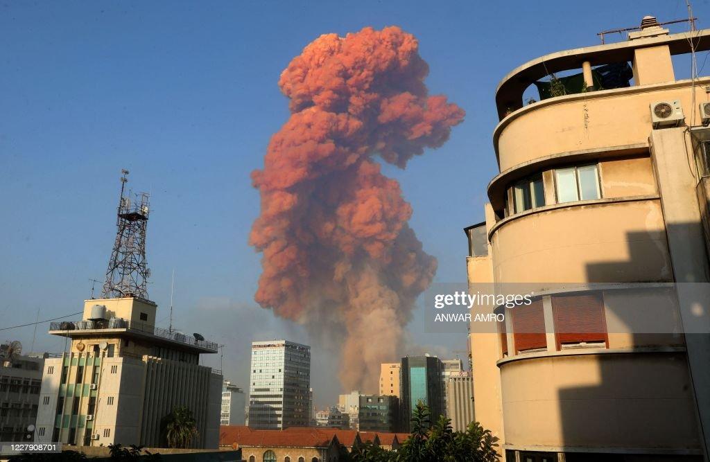 TOPSHOT-LEBANON-BLAST : News Photo