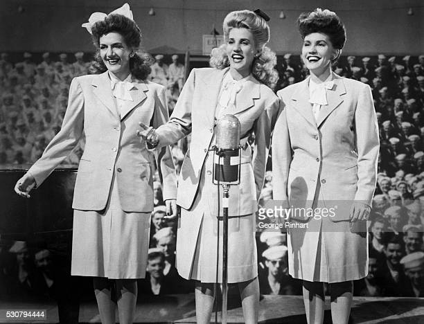 1944 Picture shows the singing group 'The Andrews Sisters' at the height of their fame Left to right Maxine Patty and Laverne BPA2# 1541
