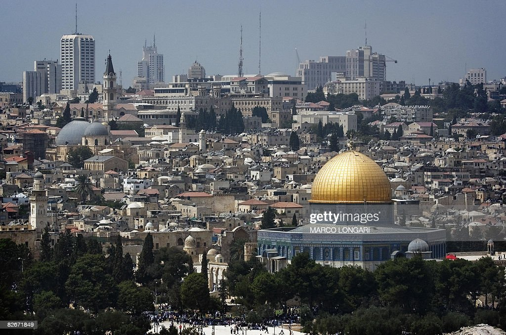 A picture shows the skyline of Jerusalem : News Photo