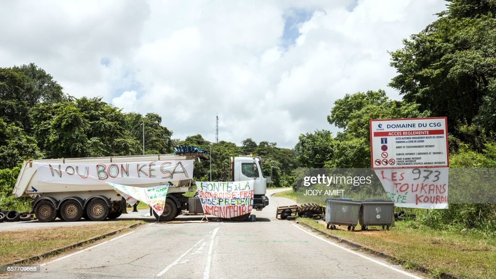 FRANCE-OVERSEAS-GUIANA-SOCIAL-LABOUR-STRIKE : News Photo