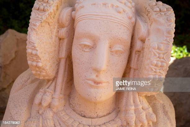 A picture shows the stone bust of the Lady of Elche in Elche southeast Spain on October 17 AFP PHOTO/ Jaime REINA