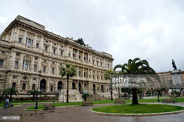 A picture shows the Supreme Court in Rome on March 25 2015 Italy's top court is due to rule on the conviction of Amanda Knox for the murder of a...