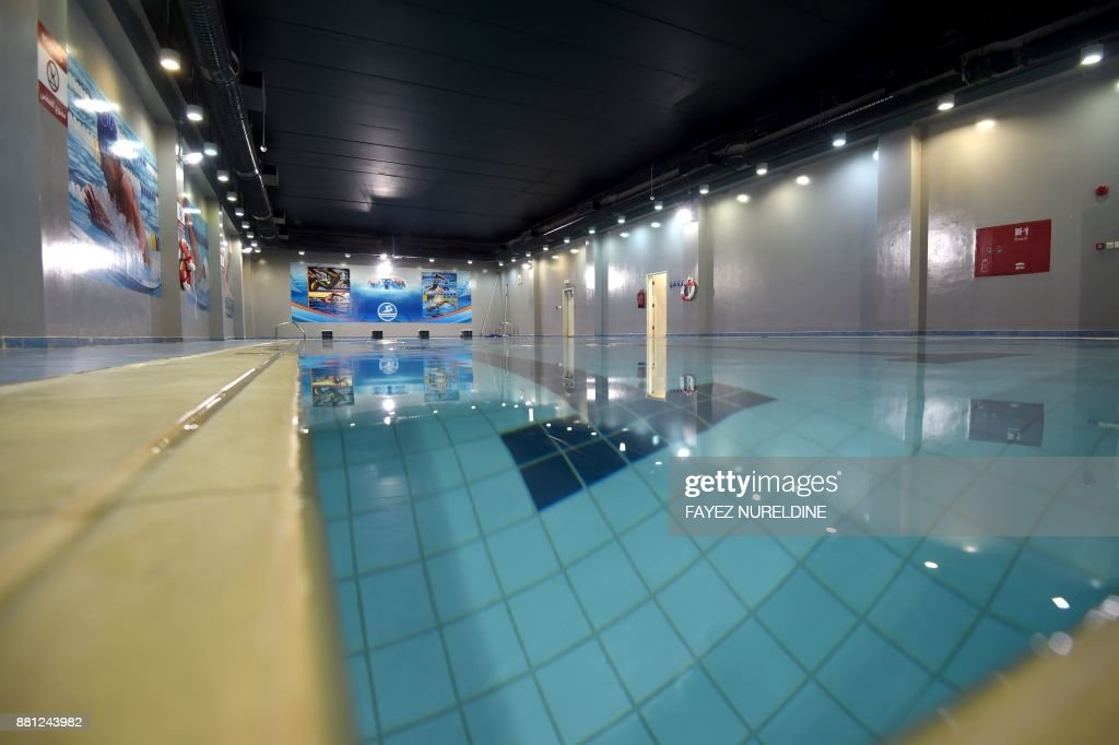 A picture shows the swimming pool of the Mohammed bin Nayef Center for  Counseling and Advice