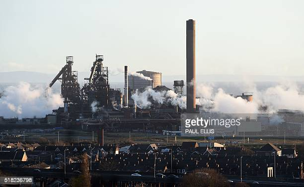 A picture shows the Tata Steel steel plant at Port Talbot south Wales on March 30 2016 Indian giant Tata Steel on March 30 2016 put its British...