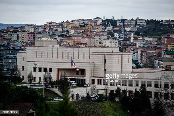 A picture shows the US consulate in Istanbul on December 9 2015 The United States consulate in Istanbul was offering only limited services with a...