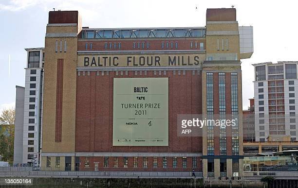 A picture shows the venue for the presentation of the 2011 Turner Prize for contemporary art The Baltic Centre for Contemporary Arts in Gateshead...