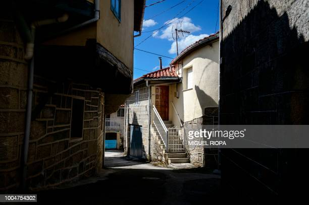 A picture shows the village of Vilouxe that offers viewpoints of the Sil Canyon in the Galicia region of northwestern Spain on July 22 2018 The Sil...