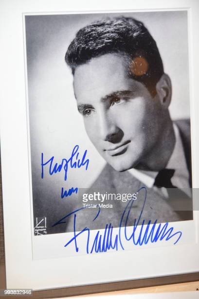 A picture signed by Freddy Quinn as a detail during the Aline Reimer Foundation Gala on July 7 2018 in Berlin Germany