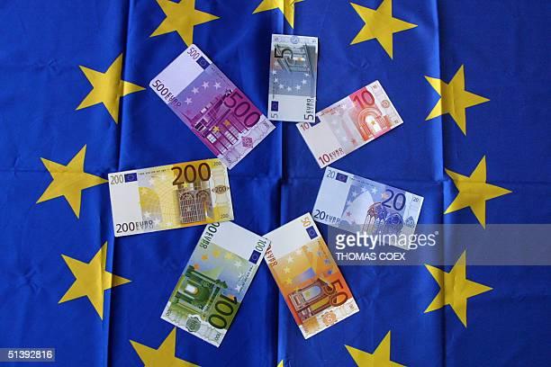 Picture taken 01 June 2001 of euro banknotes AFP PHOTO THOMAS COEX