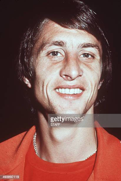 Picture taken 05 July 1974 of Dutch soccer figure Johan Cruijff One of the best soccer players of all times 48 selections 704 matches and 421 goals...