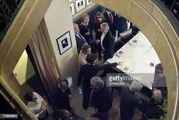 Picture taken 05 November 2007 at the Drouant restaurant in Paris during the 2007 French literature prize Prix Goncourt ceremony France's most...