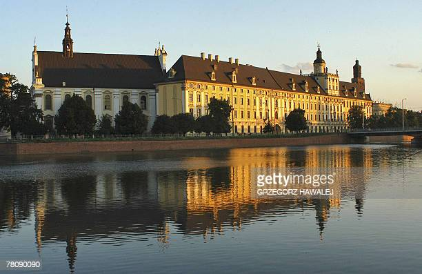 A picture taken 07 July 2007 shows a view of the University building in Wroclaw Poland Wroclaw with two other cities Yeosu in South Korea and...