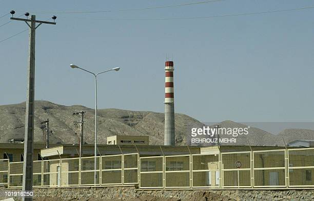 -- Picture taken 08 August 2005 shows the outdoor view of the Isfahan Uranium Conversion Facilities , 420 kms south of Tehran. Iran's uranium...