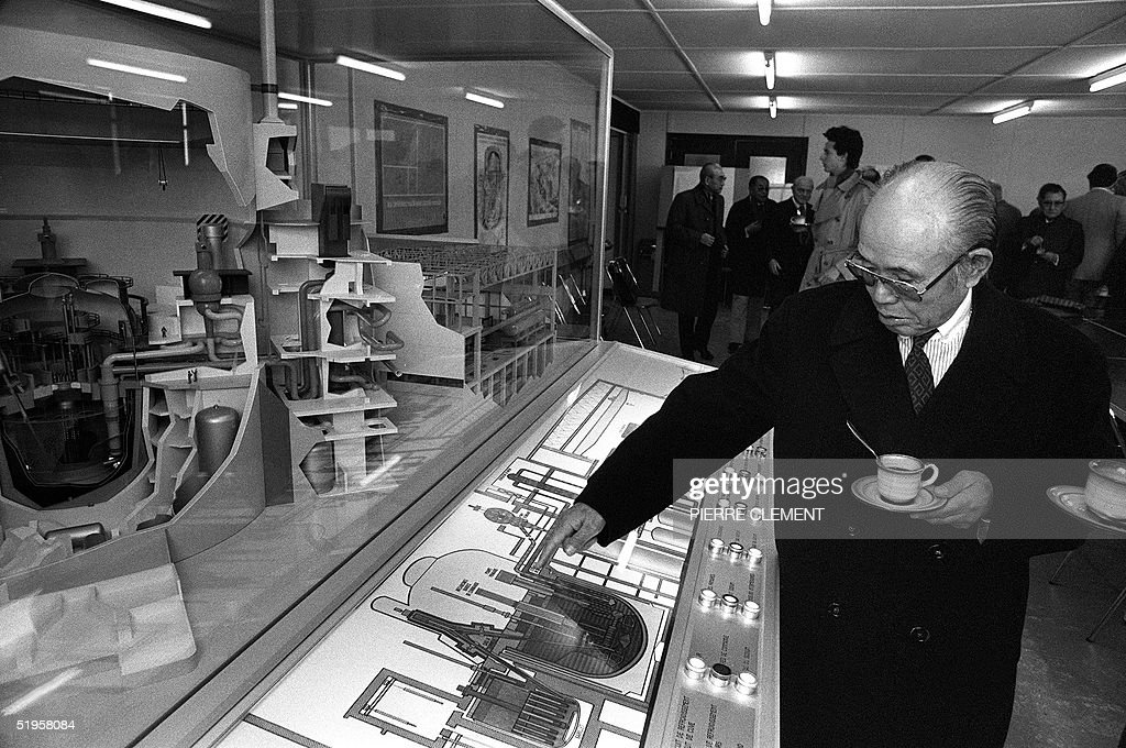 Picture taken 09 December 1980 in Creys-Malville, : News Photo