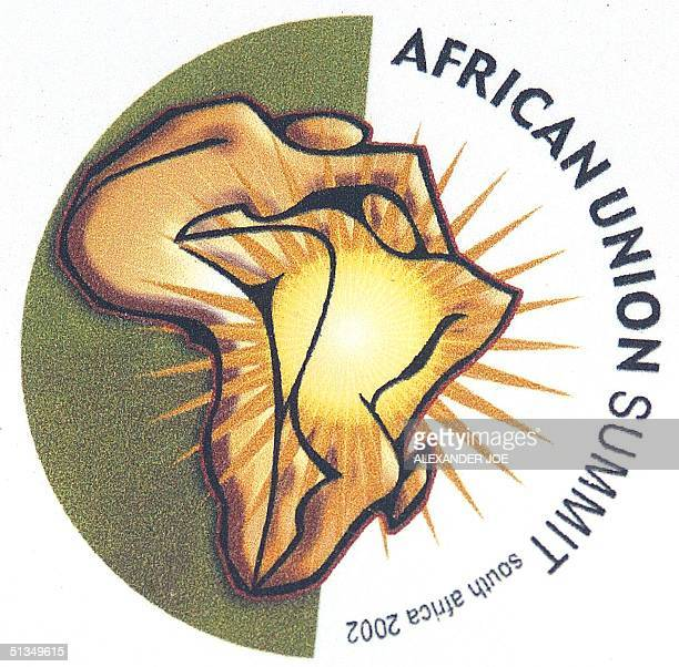 Picture taken 09 July 2002 in Durban of the logo of the African Union summit The first session of the 53member AU which replaces the Organisation of...