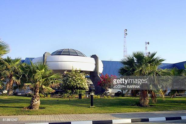 Picture taken 10 October 2001 shows the headquarters of alJazeera satellite TV network in the Qatari capital Doha US Secretary of State Colin Powell...