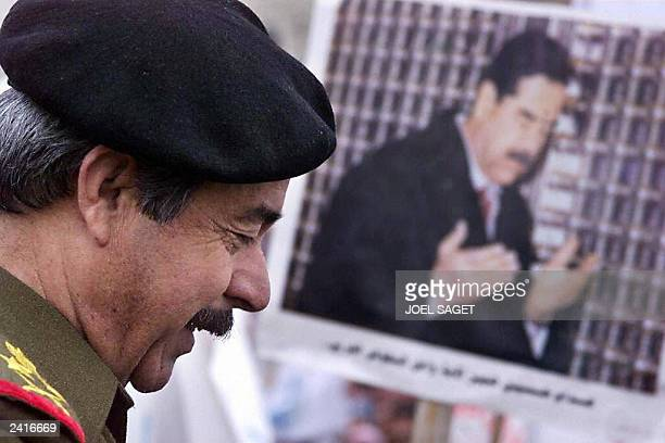 Picture taken 16 January 1999 shows Iraqi General Ali Hassan AlMajid a member of the Revolutionary Command Council the leading Iraqi institution and...