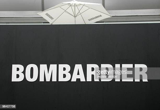 Picture taken 16 June 2005 at Le Bourget Airport during the 46th International Paris Air show of the logo of Bombardier