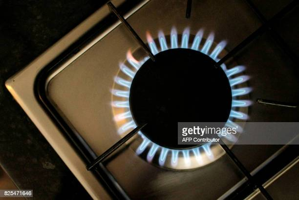 A picture taken 18 January 2008 shows the gas burner of a stove in London United Kingdom's biggest energy provider British Gas 18 January 2008...