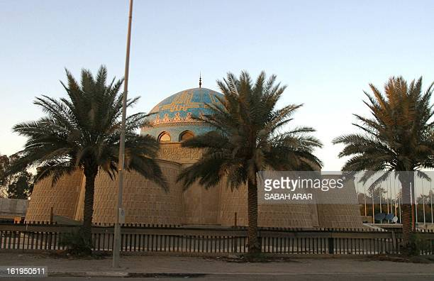 Picture taken 20 December 2003 shows the mausoleum of Baath party founder Michel Aflak inside the former Saddam Hussein presidential compound the...