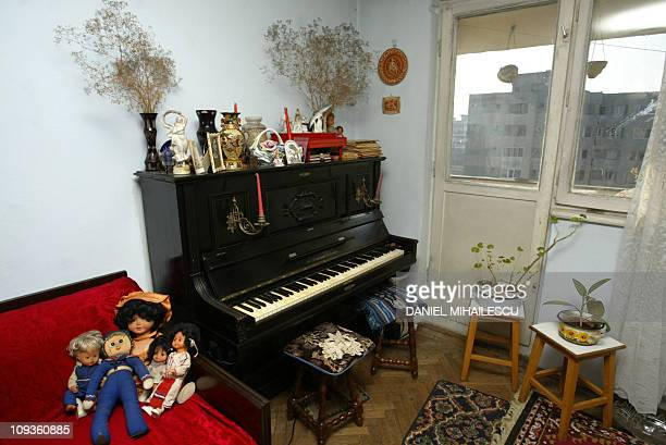 Picture taken 20 January 2005 of Adriana Illescu living room in Drumul Taberei quarter in Bucharest A 67yearold Romanian woman Adriana Illescu a...