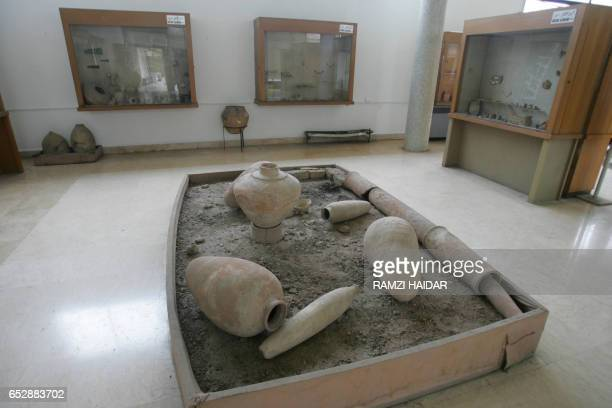 A picture taken 21 March 2006 shows a general view of the archaeological museum of Aleppo 350 kilometres north of the Syrian capital AFP PHOTO/RAMZI...