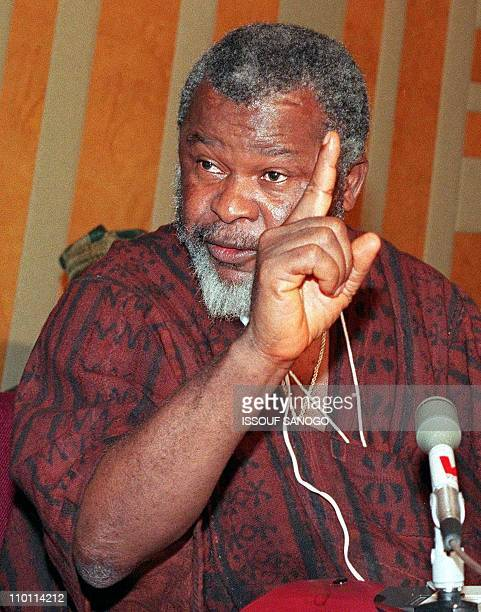A picture taken 23 March 1996 showing the leader of Sierra Leon's Revolutionary United Front Foday Sankoh during a meeting in Yamoussoukro Foday...