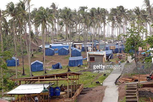 WITH PHILIPPINESUNDISASTERTYPHOON Picture taken 24 March 2007 shows a sprawling refugee camp in the town of Daraga Albay province eastern Philippine...