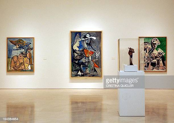 Picture taken 27 October 2003 shows Picasso paintings during the inauguration of a museum dedicated to the Spanish painter in Malaga southern Spain...