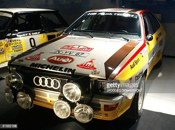 Picture taken 28 September 2002 in Paris of the Audi Quattro driven by German Rohrl and Geistdorfer which won the 52nd MonteCarlo Rally in 1984 This...