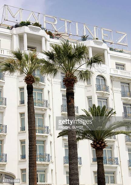 Picture taken 29 June 2005 shows the Martinez hotel in Cannes belonging to the Taittinger Family The Groupe Taittinger best known for its champagne...