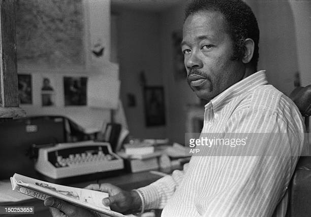 Picture taken 29 May 1975 in Paris showing Eldridge Cleaver one of the original members of the radical Black Panther Party Cleaver died 02 May at the...