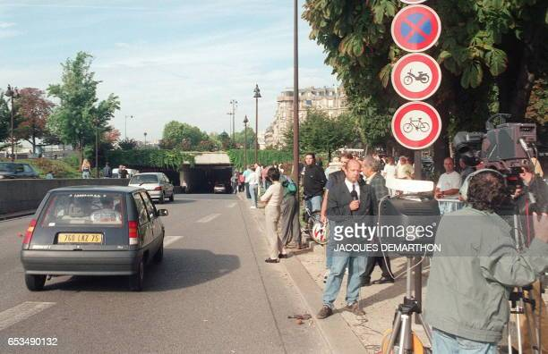 Picture taken 31 August 1997 of the entrance of the tunnel on a road beside the river Seine near the Alma bridge in western Paris where Diana and her...