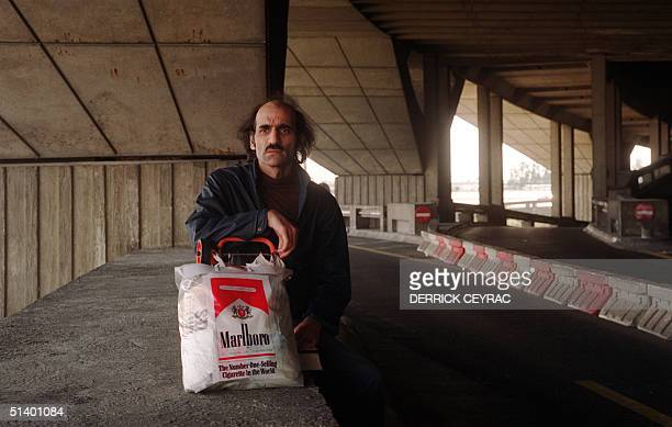Picture taken at Roissy Charles De Gaulle Airport near Paris 09 June 1990 showing Alfred Merhan the illegitimate son of a British mother and Iranian...