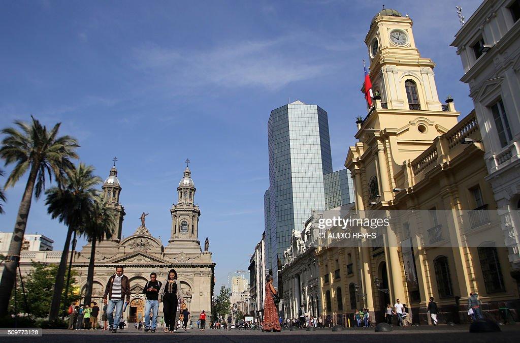 CHILE-SANTIAGO-FOUNDATION-ANNIVERSARY : News Photo