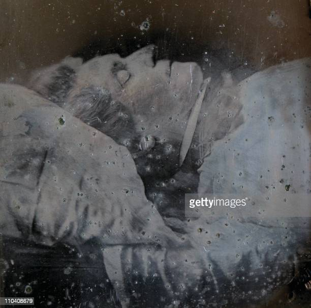 A picture taken by a Polish collector in Gdansk on March 10 2011 shows a photograph of iconic romantic composer and pianist Frederic Chopin taken on...