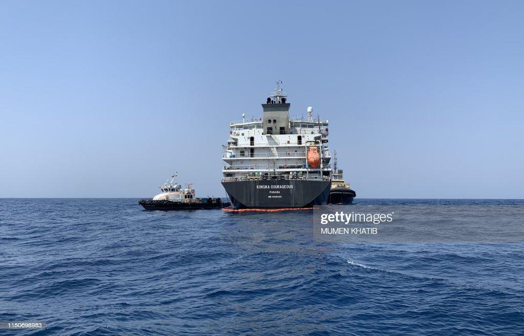 UAE-GULF-SHIPPING-OIL-IRAN-US-JAPAN : News Photo
