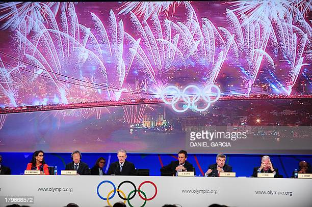 Picture taken during the final presentation of the Istanbul 2020 bid during the 125th Session of the International Olympic Committee in Buenos Aires...