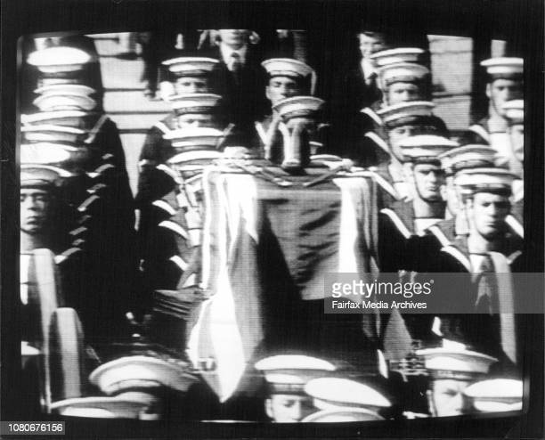 Picture taken during the funeral procession to WestminsterFuneral for Lord Mountbatten in London today September 5 1979