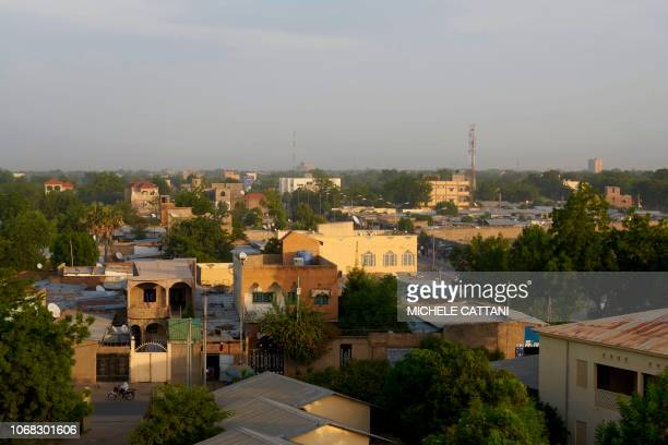 A picture taken from a rooftop shows a view of Chad's capital city N'djamena on November 3 2018