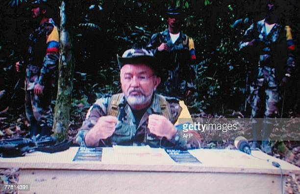 Picture taken from a video showing Raul Reyes number 2 of the Revolutionary Armed Forces of Colombia released during an alternative social summit...