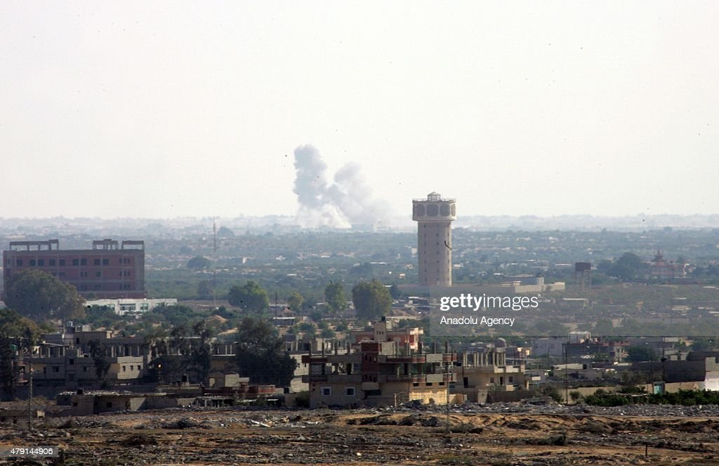 Attack on egypt military checkpoints in Sinai : News Photo