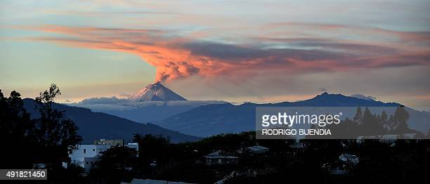 Picture taken from Quito of the Cotopaxi volcano spewing ash on October 08 2015 The volcanic activity which began August 14 after 138 years of...