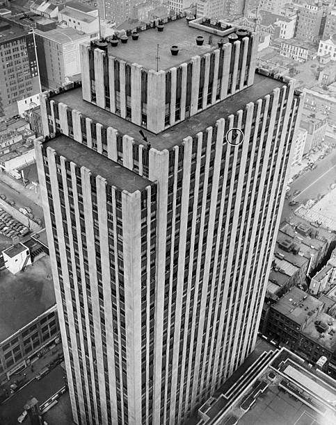 Picture taken from the 44th floor of the RCA building shows