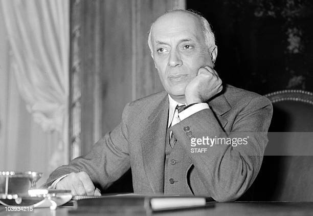 Picture taken from the 50s of Indian prime minister Pandit Jawaharlal Nehru Indian statesman and prime minister Nehru joined the Indian Congress...